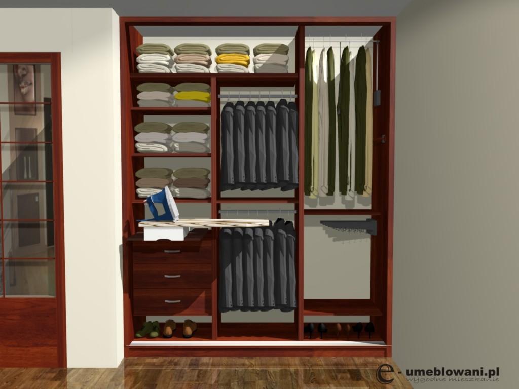 projekt szafy wnekowej