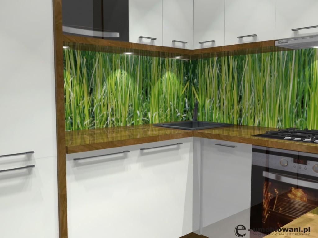 kuchnia, Fototapeta nad blatem w kuchni