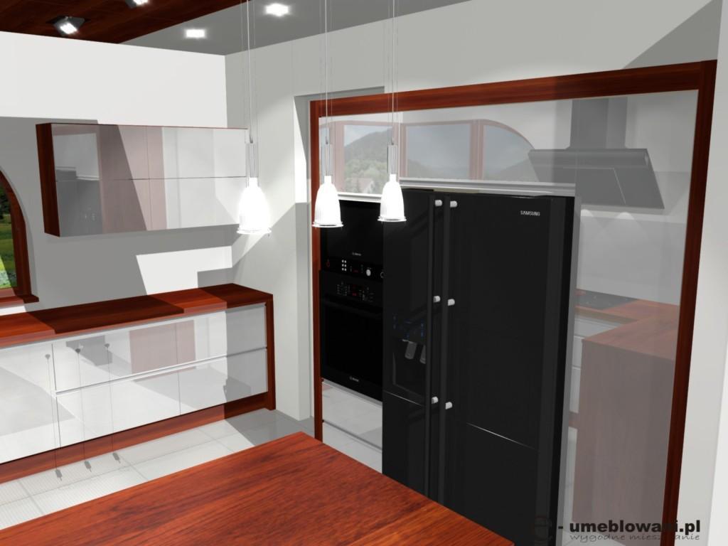 Aranżacje Kuchni Białej Z Drewnem W Kolorze Mahoniu Projekty