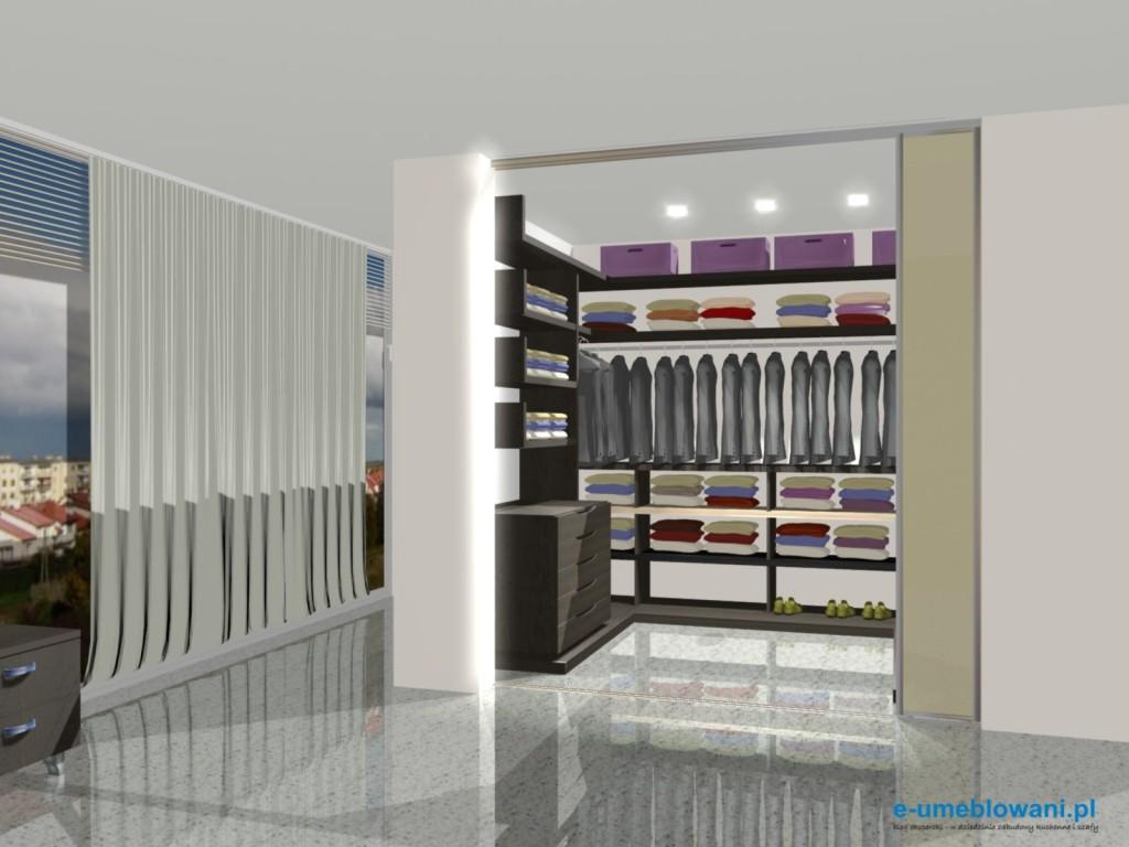 garderoba w salonie, szuflady, półki na buty, półki na ubrania