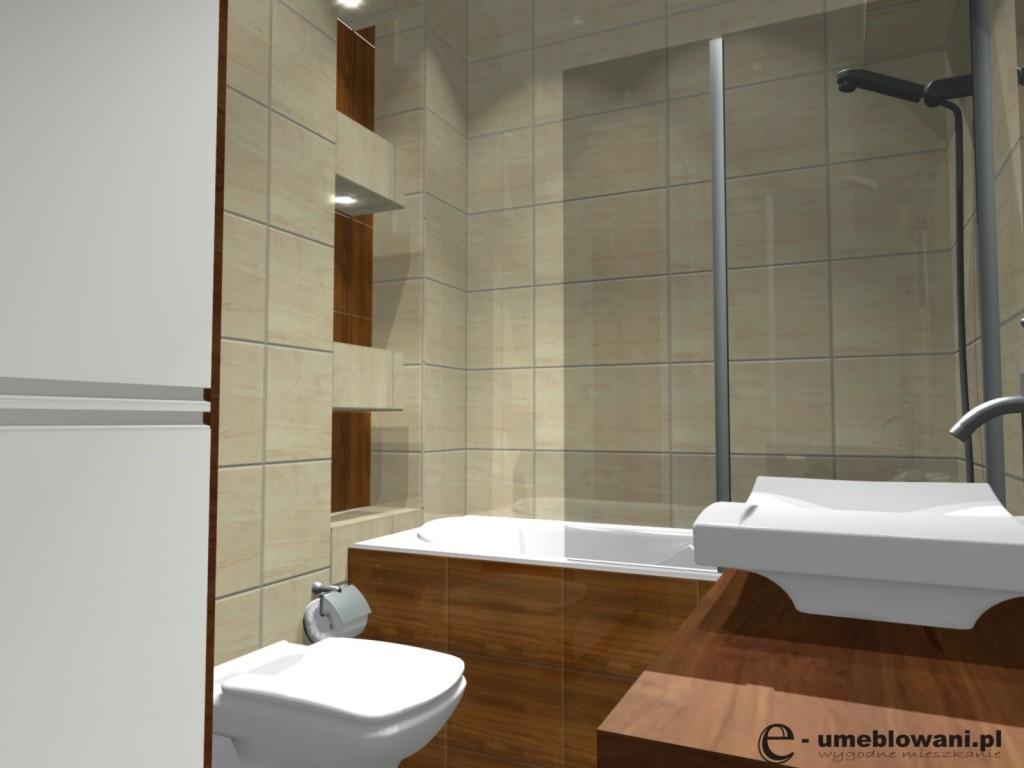 Mała łazienka Z Wanną Wanna Obudowana Płytkami Projekty