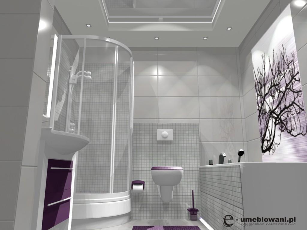 łazienka Natrysk Biała Płytki Paradyż Projekty Wnętrz I
