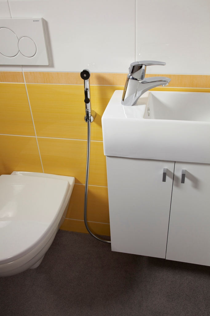 łazienka, Metalia 56 Bateria umywalkowo - bidetowa z rączą natrysku
