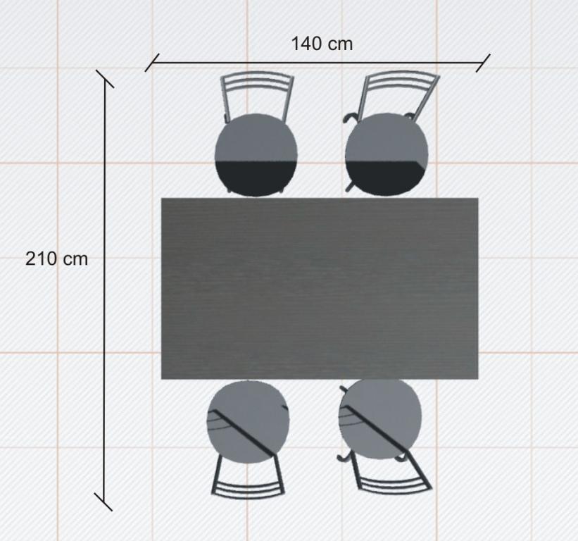 ile miejsca potrzeba na stol rysunek 2