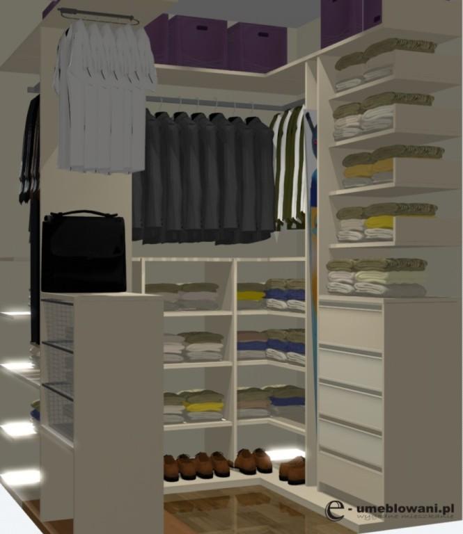 garderoba, szuflady, półki na buty, organizacja garderoby malej