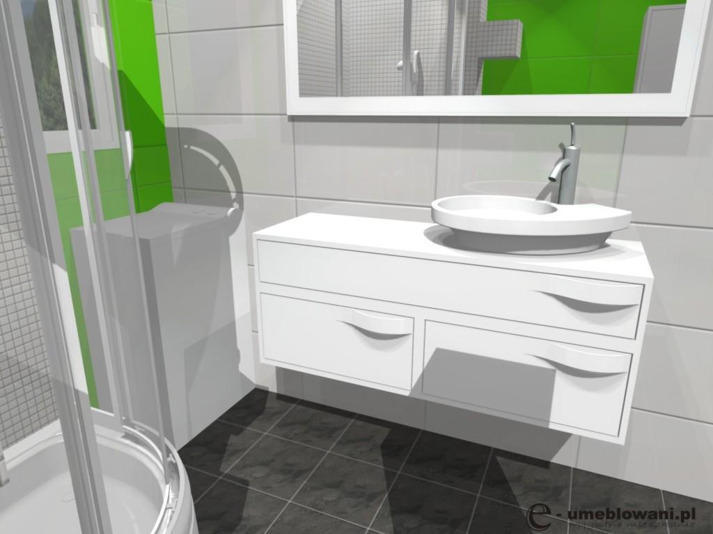 łazienka, projekt malej lazienki z prysznicem