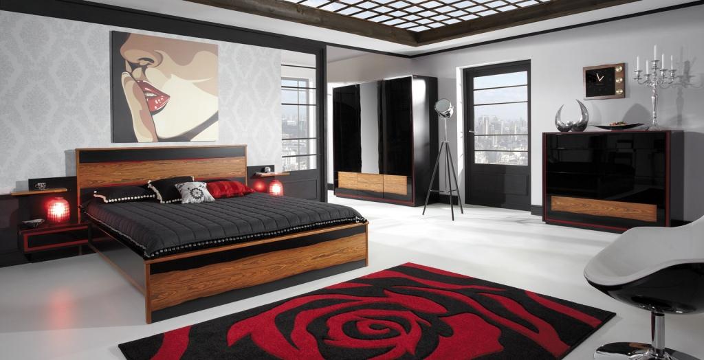 Sypialnia, komoda, łózko, szafki,