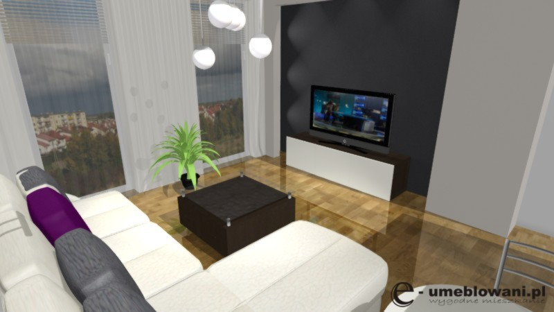 salon, stolik kawowy, ściana z tv,