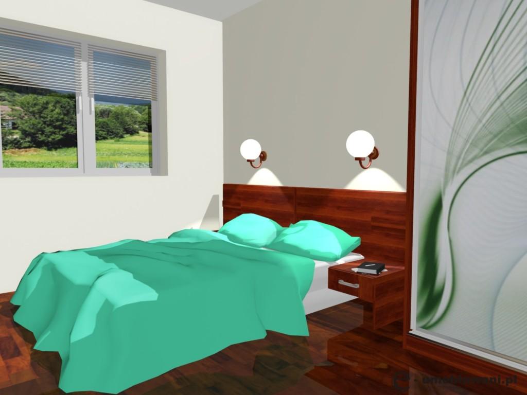 Sypialnia łózko Z Szafkami Oświetlenie Nad łóżkiem Szafa