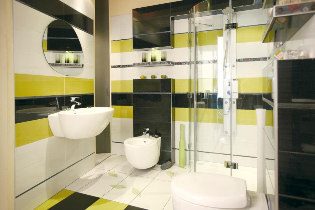 łazienka Z Capri Kontrastujące Ze Sobą Barwy