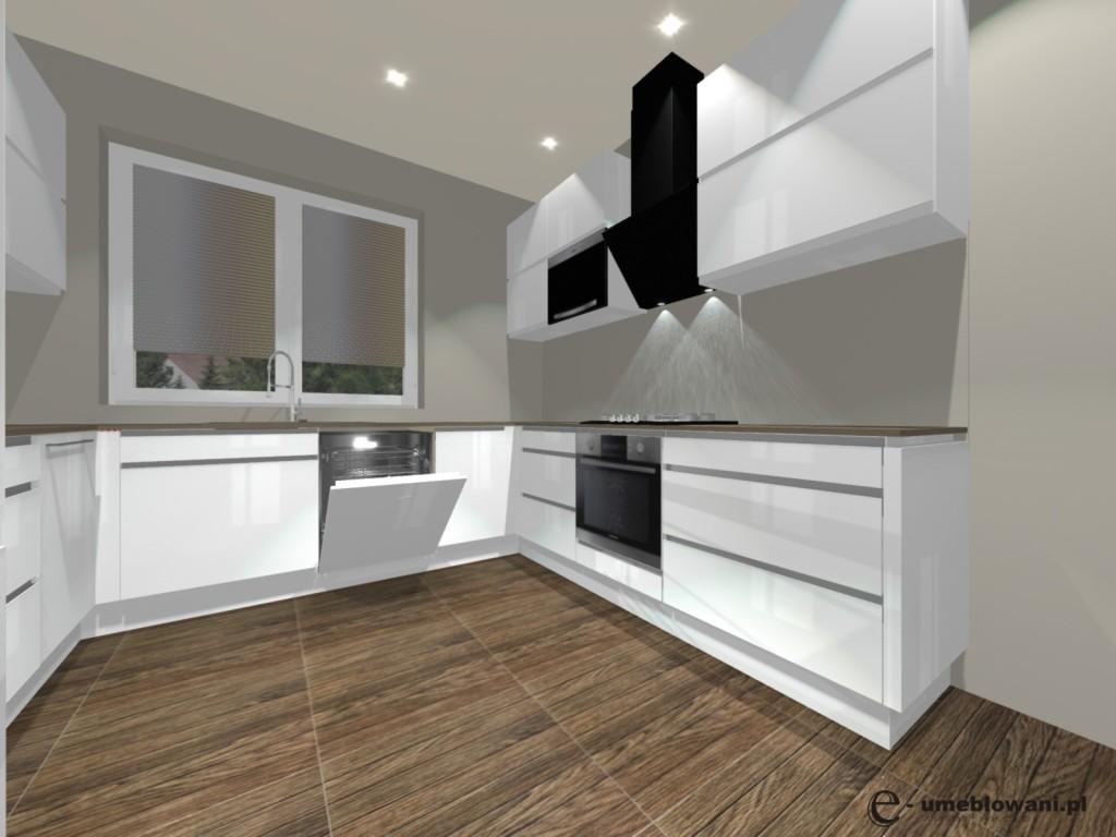 Biała Kuchnia Podłoga Tubądzin P Biloba Brown Projekty