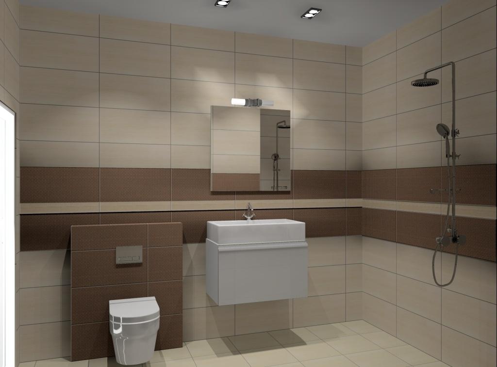 łazienka, beż, brąz-szafka-biała-zabudowa-wc-prysznic