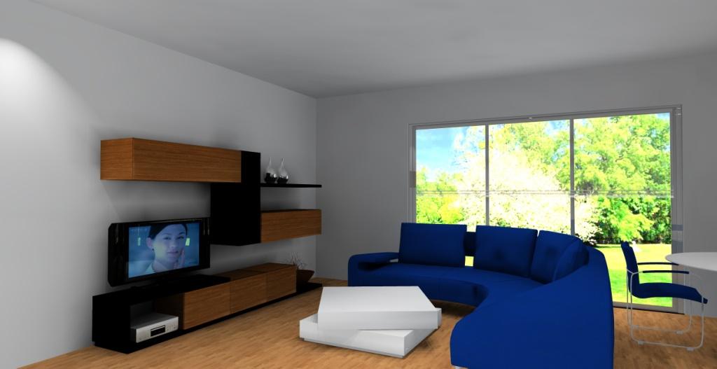 nowoczesny-salon-bialy-braz-niebieski-czarny-meblościanka-czarna-drewno-stolik-kawowy-biały