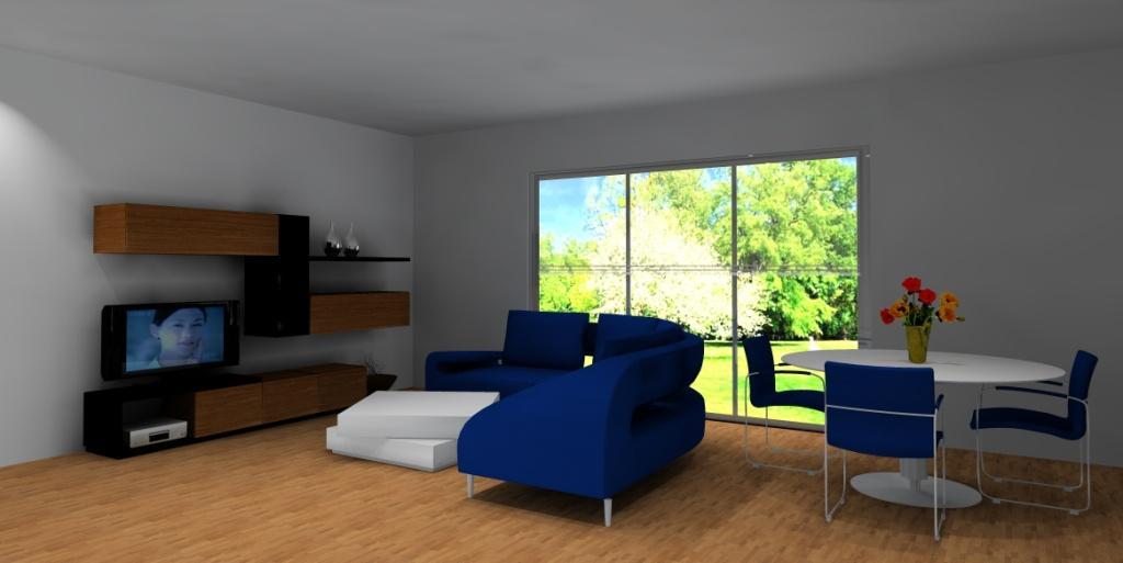 nowoczesny-salon-bialy-braz-niebieski-meblościanka-czarna-drewno-stolik-kawowy-biały
