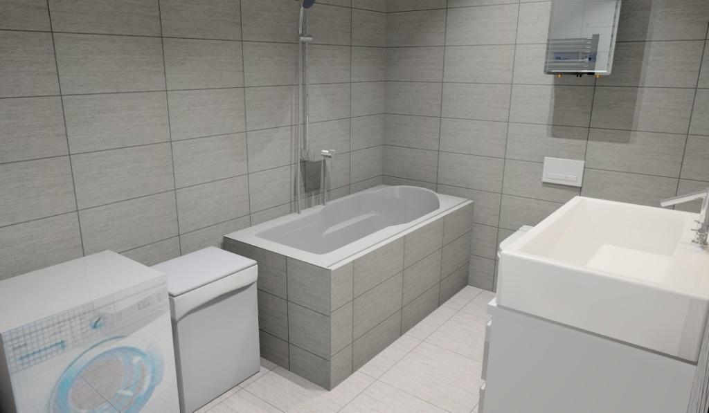 łazienka-szara-biała-szafka-pod-umywalkę-biała-wanna-pralka