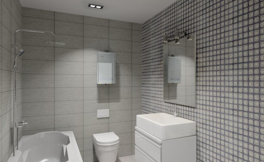 łazienka-szara-biała-szafka-pod-umywalkę-biała-wanna