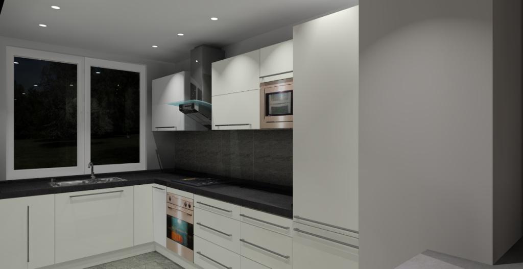 kuchnia-biała-grafit-fronty-białe-blat-grafit-podłoga-grafit-jedno-okno