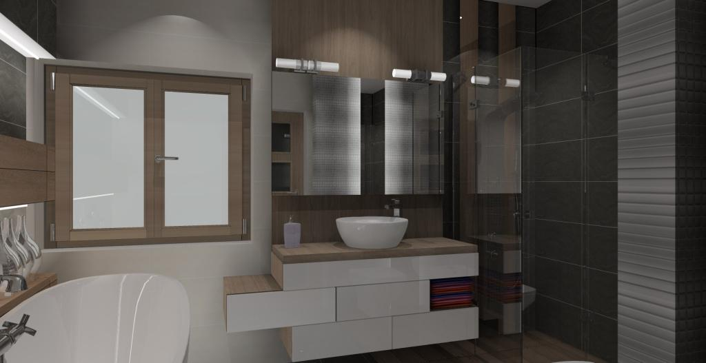 łazienka-szary-biały-drewno-okno