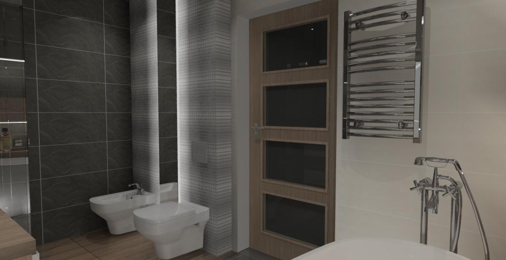 łazienka-biały-drewno-szary-zabudowa wc