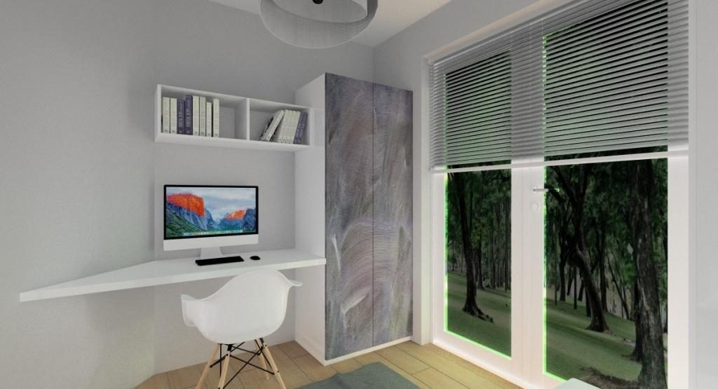 Projektowanie mieszkania, pokój dla nastolatki